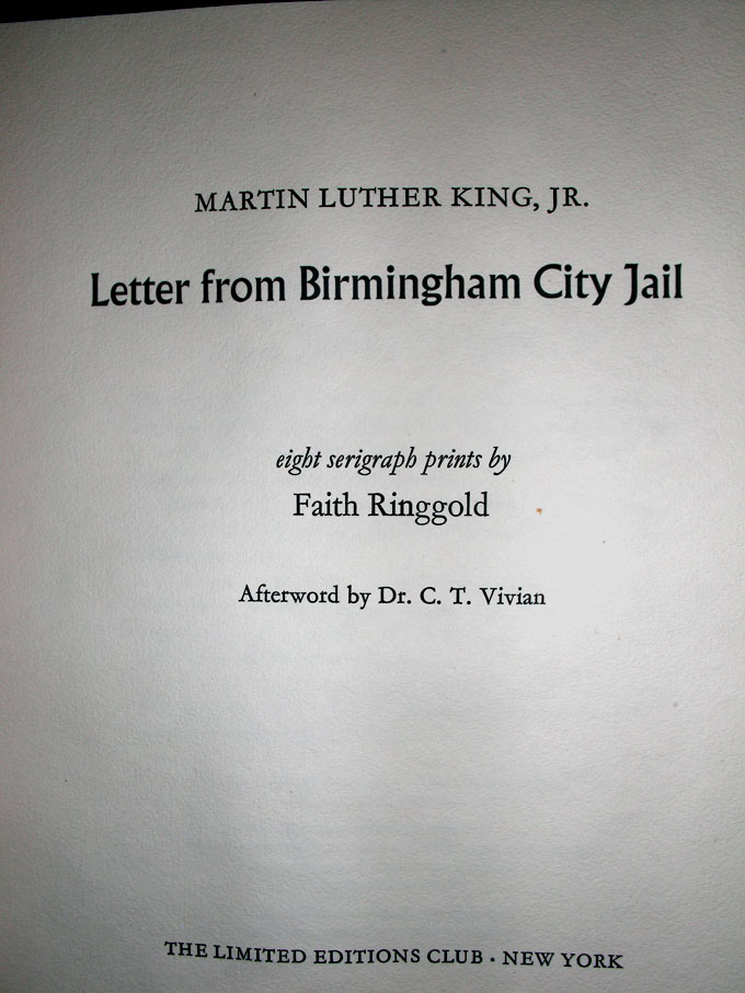 Letter From Birmingham City Jail Martin Luther Jr King
