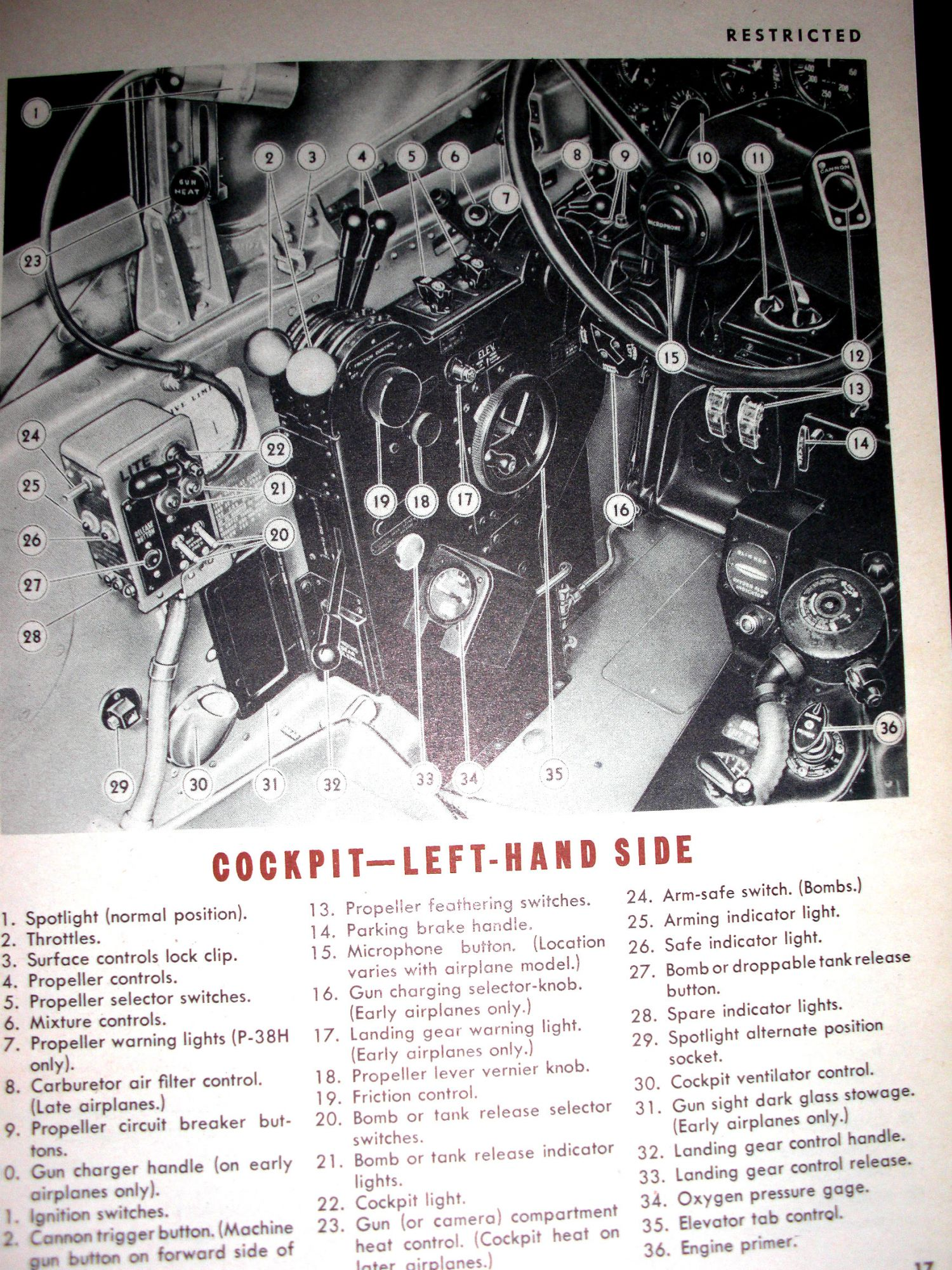 Pilot Training Manual for the P-38 Lightning on Heldfond Book Gallery