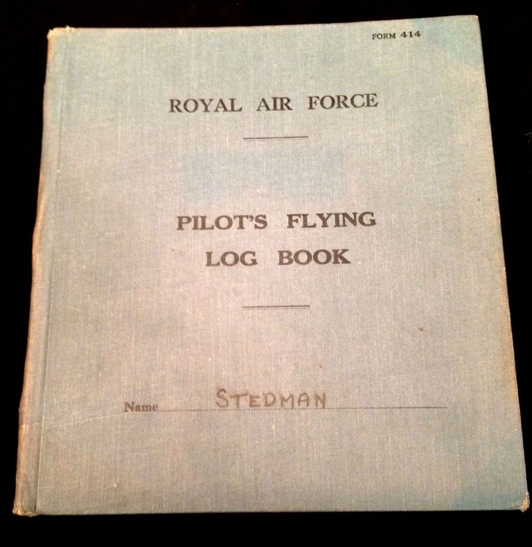 Royal Air Force Pilot's Flying Log Book. Sgt. J. V. Stedman.