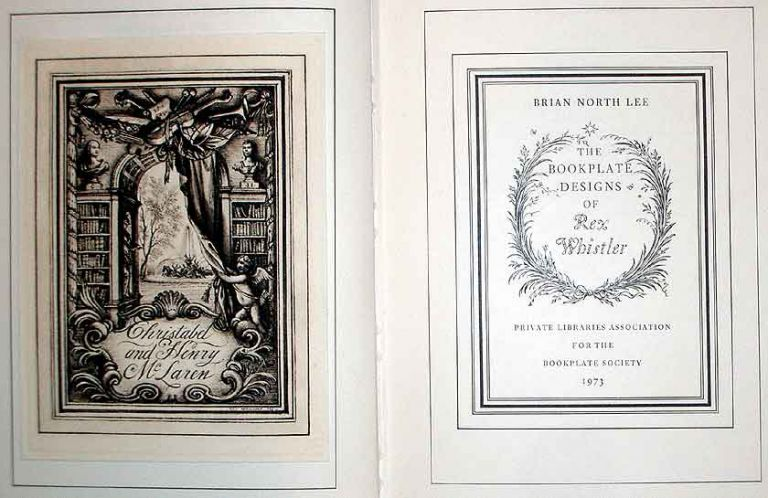 The Bookplate Designs of Rex Whistler. Brian North Lee.