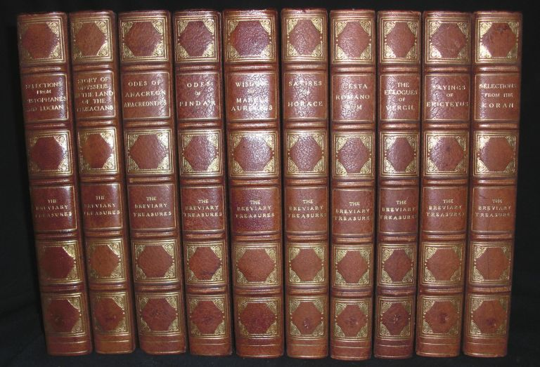 The Breviary Treasures. Virgil Aurelius, Aristophanes, Pindar, Lucian, Aristophanes, Homer, Horace, Anacreon, Romanorum, Epictetus.