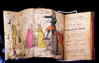 Resurrection of Pitt : An Account of the Appearance of a Mysterious Figure Asserted...to be No Other Than the Right Honourable William Pitt...With Satirical Remarks on the Subject. Cruikshank.
