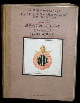 Bristol T.C.69 Aircraft Division Class A- Lectures, Notes, Drawings, Diagrams, etc. M. A. Bannister