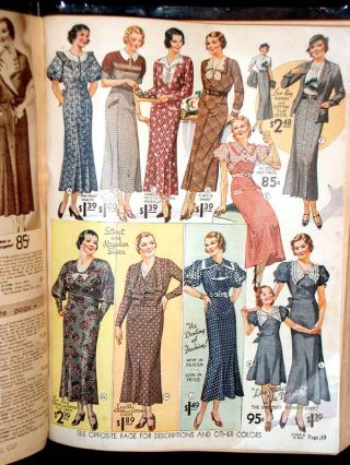Montgomery Ward Catalogue Number 123 for fall and winter 1935-1936. Shopping catalogue