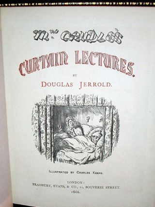Mrs. Caudle's Curtain Lectures.