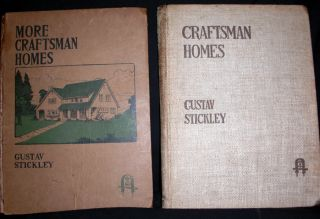 Craftsman Homes and More Craftsman Homes - Two Volumes. Gustav Stickley
