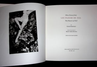Three Poems from Les Fleurs du Mal / The Flowers of Evil.