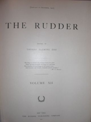 The Rudder-Volume XIII