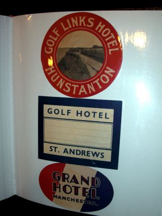A Collection of Original Art deco Luggage Labels.