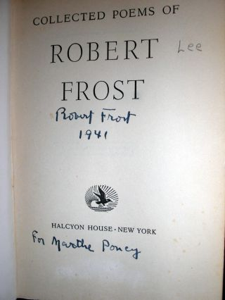 Collected Poems of Robert Frost.